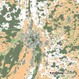 Lageplan von Augsburg