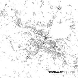 Schwarzplan von Dresden