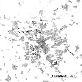 Schwarzplan von Hannover