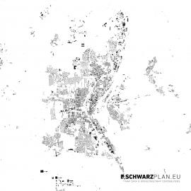 Schwarzplan von Magdeburg