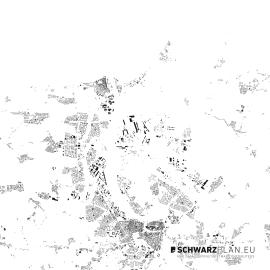 Schwarzplan von Rostock
