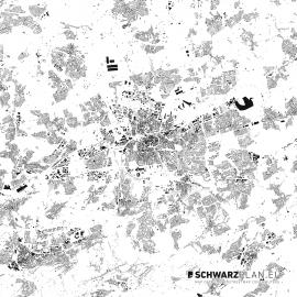 Schwarzplan von Dortmund
