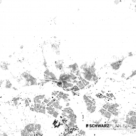 Schwarzplan von Arnhem