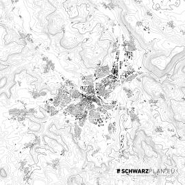 Schwarzplan von Bayreuth