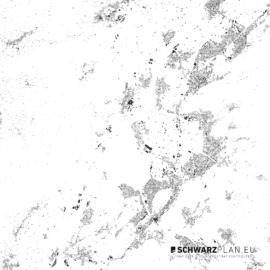 Schwarzplan von Goetzis, Appenzell und Feldkirch