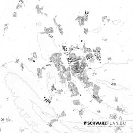 Schwarzplan von Hildesheim