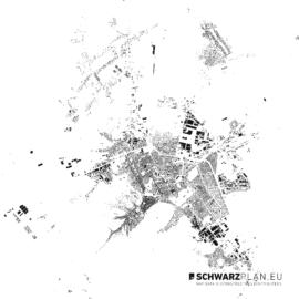 Schwarzplan von Brasov in Rumänien