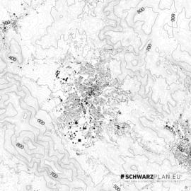 Schwarzplan von Reichenberg