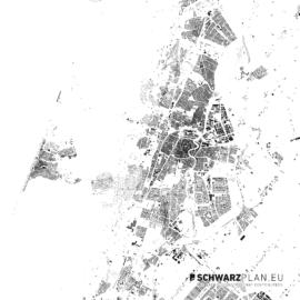 Schwarzplan von Haarlem in den Niederlanden