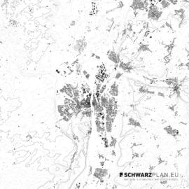 Schwarzplan von Maastricht in den Niederlanden