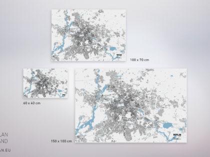 Stadtplan auf Leinwand – Unsere neuen Leinwandgrößen