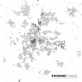 Schwarzplan von Lüneburg