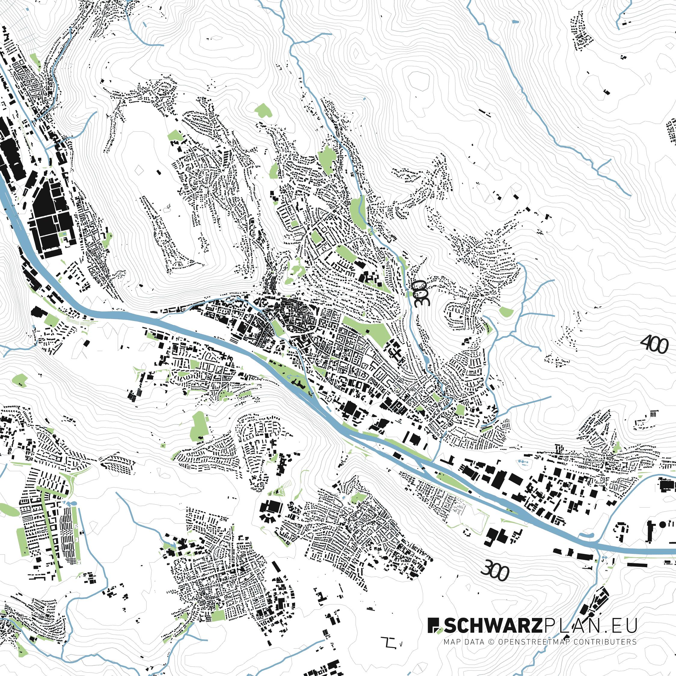 Lageplan von Esslingen am Neckar