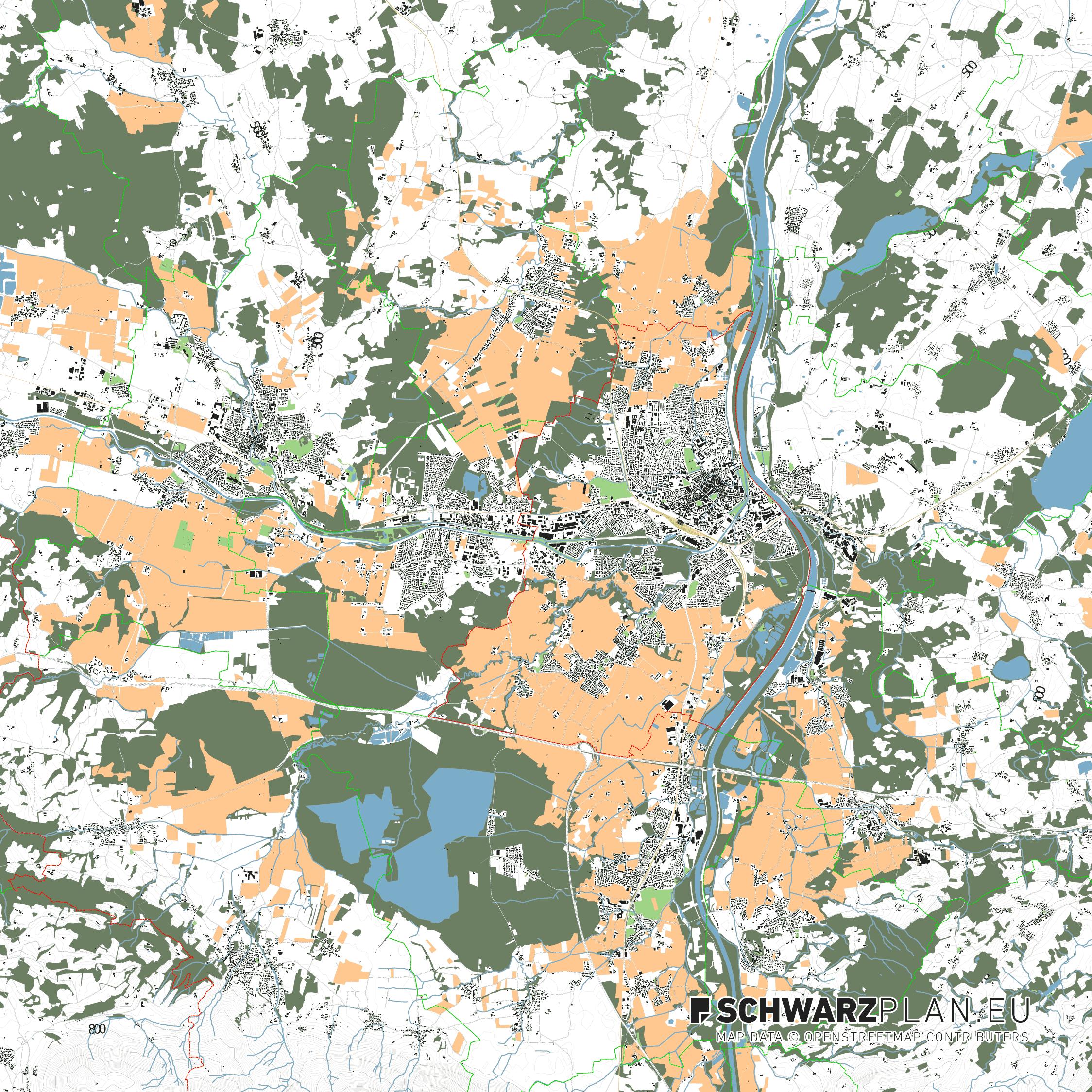 Lageplan von Rosenheim
