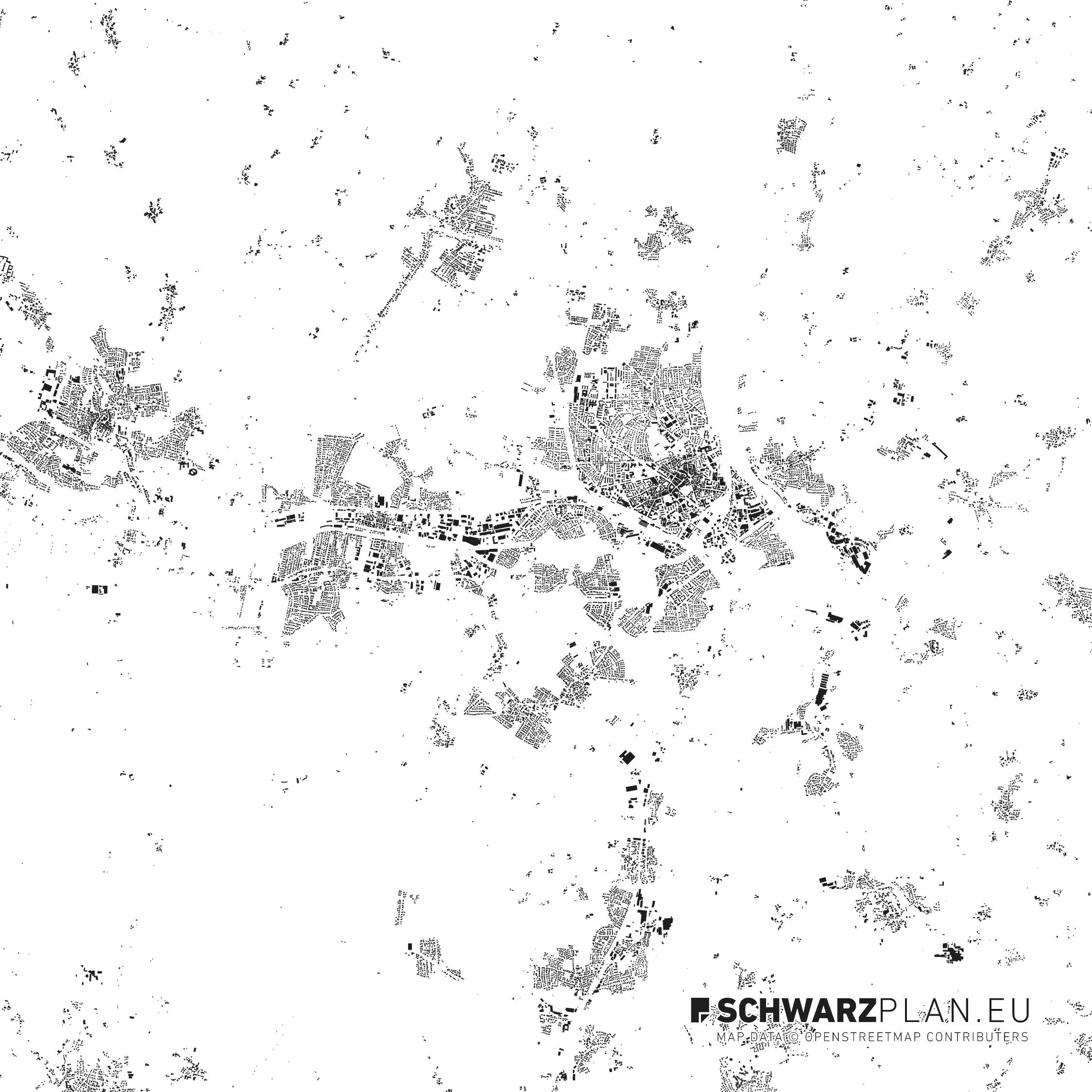 Schwarzplan von Rosenheim