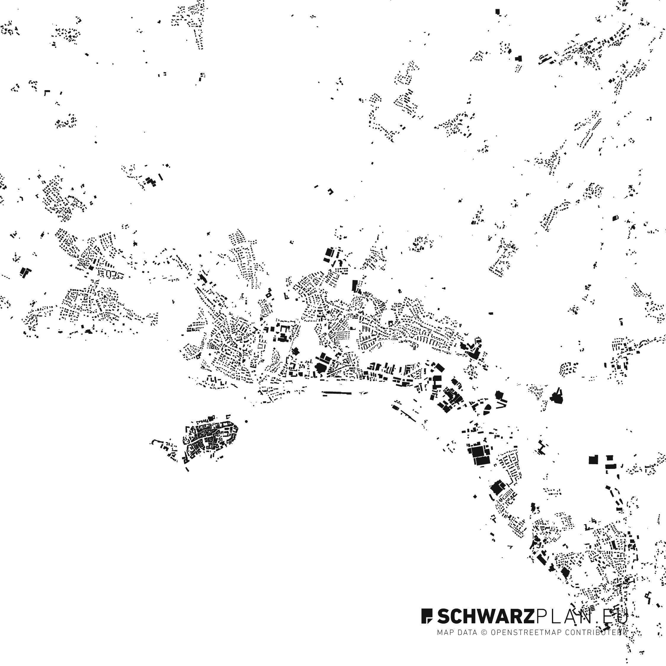 Schwarzplan von Lindau am Bodensee