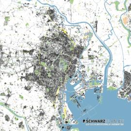 Lageplan von Tokio in Japan
