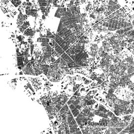 Schwarzplan von Manila