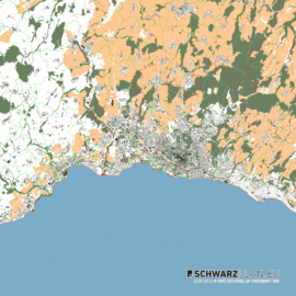 Lageplan von Lausanne in der Schweiz