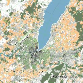 Lageplan von Genf in der Schweiz